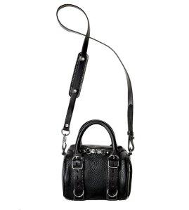 Alexander Wang Mini Rockie Pebbled Leather Satchel Bag, Black  @ Bergdorf Goodman
