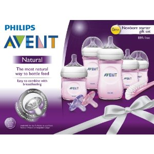 Philips Avent SCD296/11 BPA Free Natural Infant Starter Set, Pink