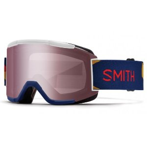 Smith Optics Squad Goggles (Navy Blue Outboard/Ignitor Mirror/Yellow Lens) | Focus Camera