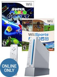Online Only! $49.99 Nintendo Wii System Blast from the Past Bundle