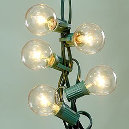 Deneve Ideal for Decoration Deneve Globe String Lights with G40 Bulbs (25ft.)