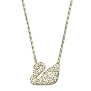 SWAROVSKI Goldtone Swan Necklace