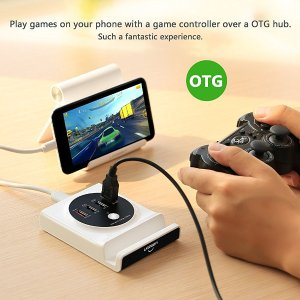 OTG Hub  Ugreen 4 Port Charging Station 30W 6A USB Travel Charger