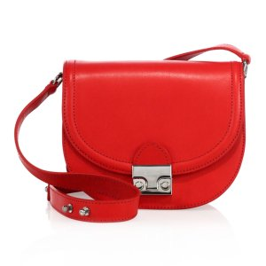 Leather Saddle Bag by Loeffler Randall