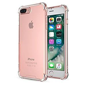 iPhone 7 Plus Case - MoKo Shockproof Flexible TPU Bumper Anti-Scratch Rigid Slim Protective Cases Clear Back Cover for iPhone 7 Plus