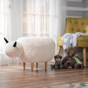 Pearcy Velvet Sheep Ottoman by Christopher Knight Home - Free Shipping Today - Overstock.com - 20158286