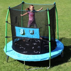Skywalker 7.5' Trampoline with Enclosure Combo and Bonus Game