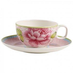 Rose Cottage Tea Cup & Saucer Set : Pink - Villeroy & Boch