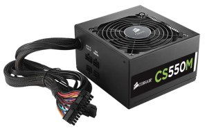 CORSAIR CS550M 550W 80Plus Gold Active PFC Semi-Modular PSU