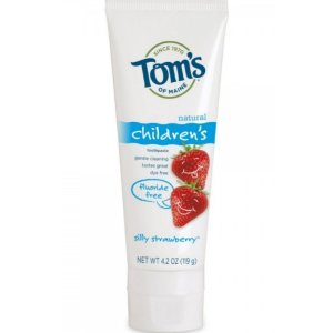 $7.81 + Free ShippingTom's of Maine Natural Fluoride Free Children's Toothpaste, Silly Strawberry, 4.2 Ounce, 3 Count