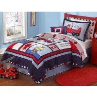Fireman Twin 2-piece Quilt Set