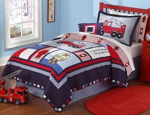 Fireman Twin 2-piece Quilt Set