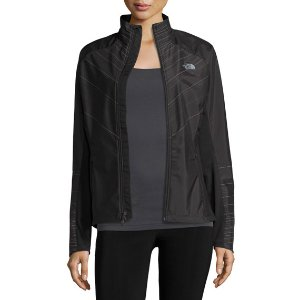 Isotherm Line-Print Weather-Resistant Running Jacket