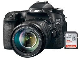 Up to $350 off Free 32GB Memory Card with Select Canon EOS 70D DSLR Cameras