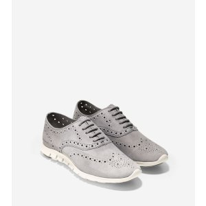 ZEROGRAND Wing Oxfords in Ironstone Suede   Cole Haan