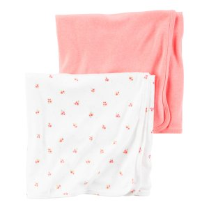 Baby Girl 2-Pack Babysoft Neon Swaddle Blankets | Carters.com
