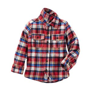 Toddler Boy 2-Pocket Flannel Shirt | OshKosh.com