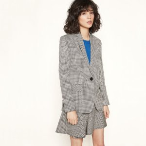 VENICE Checked tailored jacket