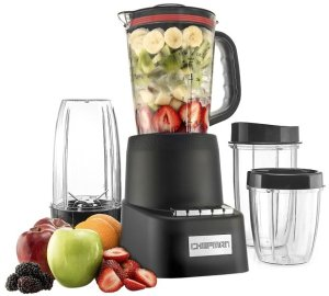 Chefman 32-Oz. Blender - Black, Transparent