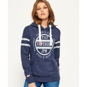 Superdry Track & Field Kiss Print Hoodie - Women's Hoodies