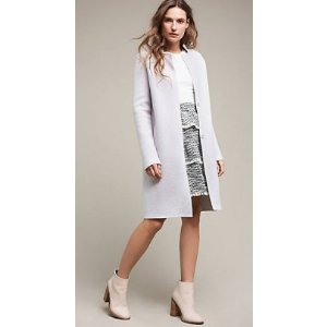 Lilac Boiled Wool Coat