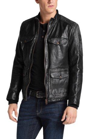 £124.68 BOSS Orange Men's Jumain Leather Jacket