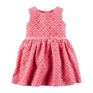 Baby Girl Geometric Lace Dress | Carters.com