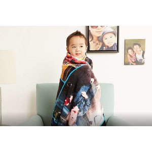 50 x 60 Personalized Photo Blanket