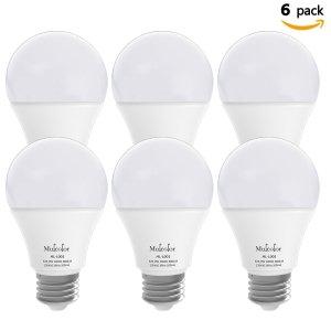 $10.91Mulcolor 60W LED 日光灯泡,6个