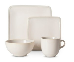 $24.48 Threshold Square Glazed 16-pc. Dinnerware Set