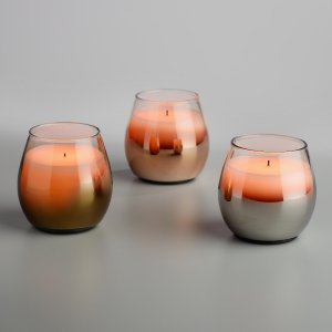 Metallic Flameless LED Filled Goblet Candle | World Market