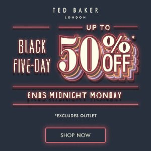 Up to 50% Off Select Styles @ Ted Baker