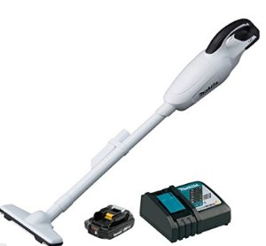 Makita XLC02RB1W 18V Compact Lithium-Ion Cordless Vacuum Kit with 2.0 Amp Battery