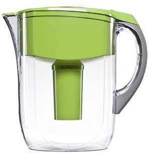 Brita Grand Water Filter Pitcher, Green, 10 Cup
