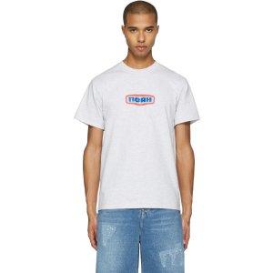 Noah: Grey Gas Station Logo T-Shirt