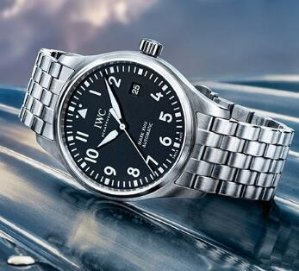 IWC Pilot Black Dial Automatic Men's Stainless Steel Watch IW327011