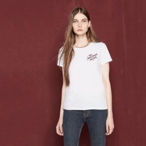TINO T-shirt with embroidered lettering - T-shirts - Maje.com