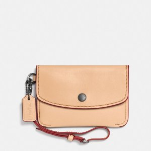 COACH Designer Accessories | Envelope Key Pouch In Glovetanned Leather