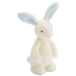 Jellycat Jellycat Bobtail Bunny Blue Chime - Free Shipping