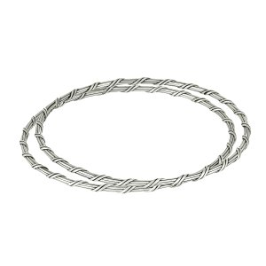 Ribbon and Reed Signature Romance bangle in sterling silver