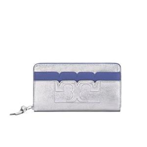 Tory Burch Scallop-t Metallic Zip Continental Wallet