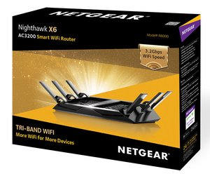 $191.25NETGEAR Nighthawk X6 AC3200 Tri-Band Gigabit WiFi Router (R8000)