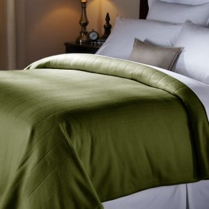 Lightning Deal! Sunbeam Quilted Fleece Heated Blanket, Queen, Ivy