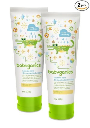 $2.37 + Free Shipping Babyganics Eczema Care Skin Protectant Cream, 8 oz Tube (Pack of 2)