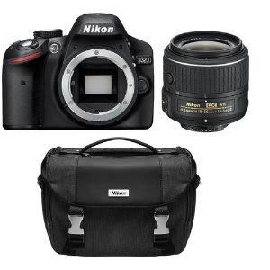 $295 Nikon D3200 24.2 MP CMOS Digital SLR Camera with 18-55mm VR Lens (Refurbished)