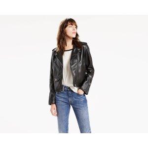 Relaxed Leather Moto Jacket | Black |Levi's® United States (US)