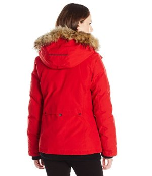 Alpinetek Women's Short Down Bomber Parka