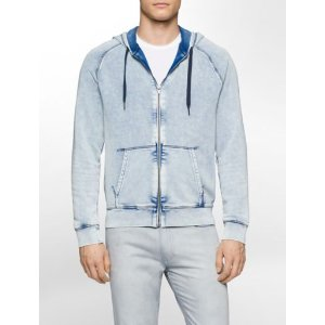 french terry acid wash hoodie | Calvin Klein