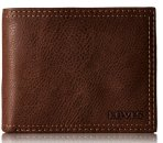 $17.99 Levi's Men's Extra Capacity Leather Slimfold Wallet