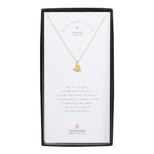 Dove Diamond Charm, Gold Dipped | Dogeared